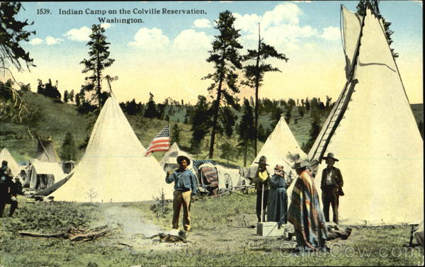 Indian Camp On The Colville Reservation Washington