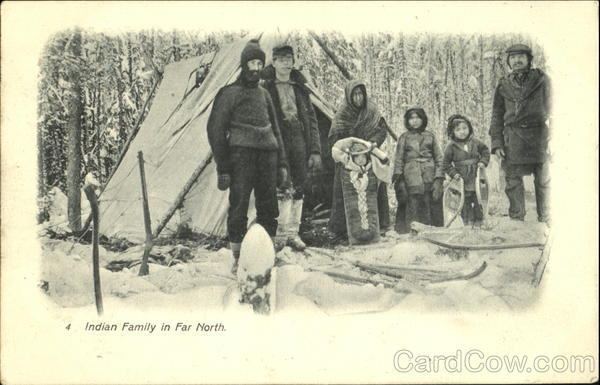 Indian Family In Far North Native Americana