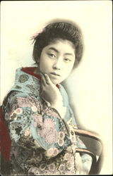 Japanese Woman - Hand Colored