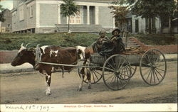 Two Blacks w/Ox-Drawn Wagon