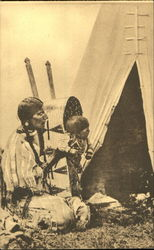 Squaw And Papoose Blackfeet Indians