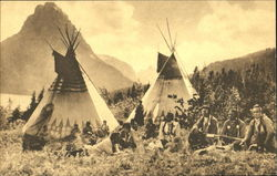 Indian Camp At Two Medicine Lake