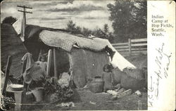 Indian Camp At Hop Fields, I