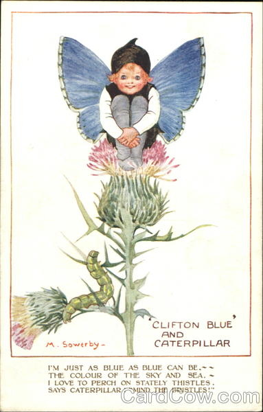 Clifton Blue And Caterpillar Millicent Sowerby Fantasy