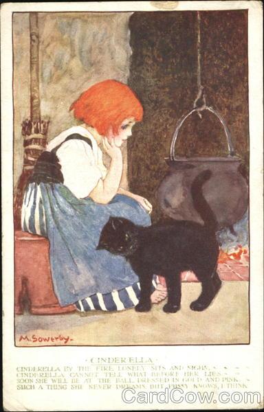 Cinderella Antique Postcard