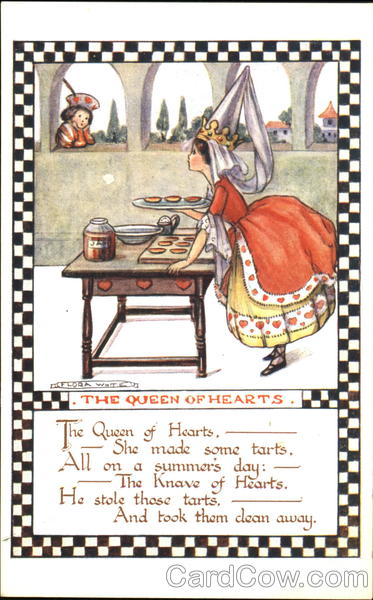 The Queen Of Hearts Flora White Nursery Rhymes