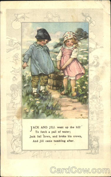 Jack and Jill carrying a pail of water Nursery Rhymes