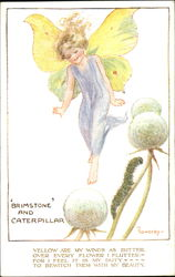 Brimstone And Caterpillar Postcard