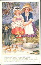 The Little Ducks Upon The Pond Postcard