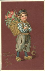 Dutch Boy with Tulips