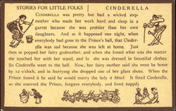 Stories For Little Folks Cinderella