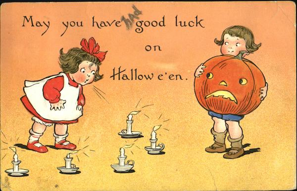 Children May You Have Good Luck On Halloween Series 188
