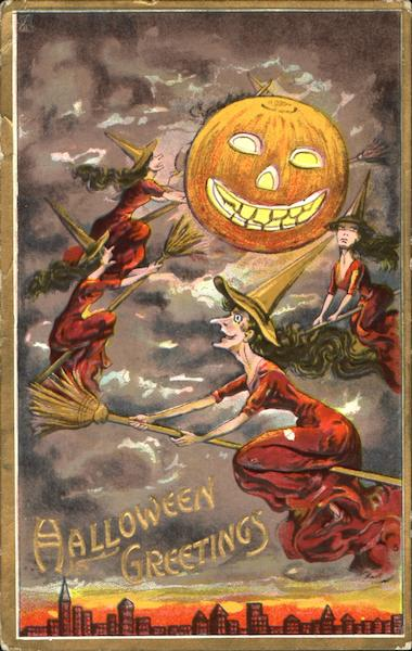 Halloween Greetings Witches