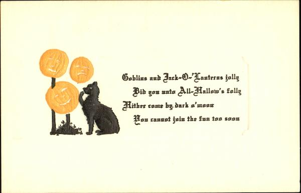 Embossed Black Cat JOLs Halloween
