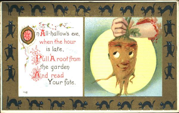 Pull a Root From the Garden Vegetable Face Halloween