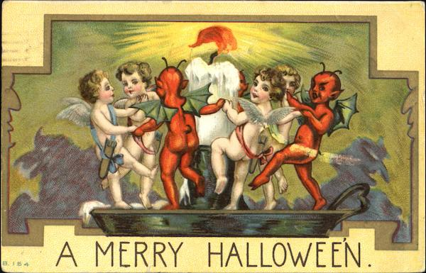 A Merry Halloween Devils & Cupids