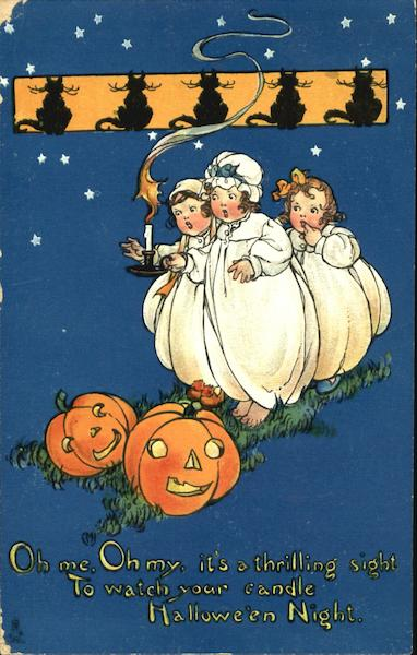 Series 197 Children Little Girls with JOLs Halloween