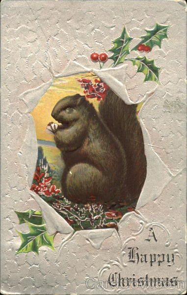 A Happy Christmas Squirrel