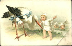 Baby with Stork