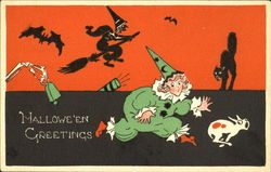 Halloween Greetings Clown Witch