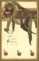 Art Nouveau Halloween Postcard