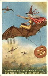 Witches Flying on Bats JOL