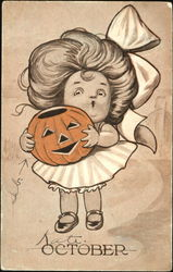 October Girl with Pumpkin