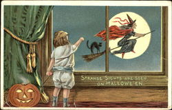 Witch on Broom JOL Children
