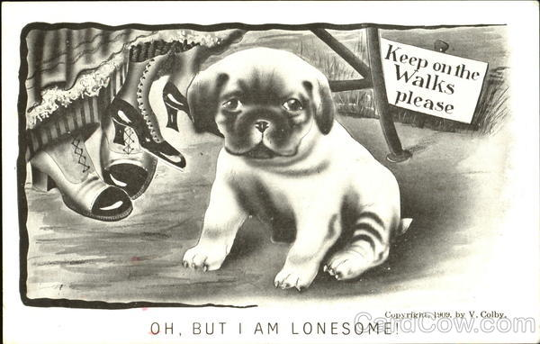 Oh But I Am Lonesome! Vincent V. Colby Dogs