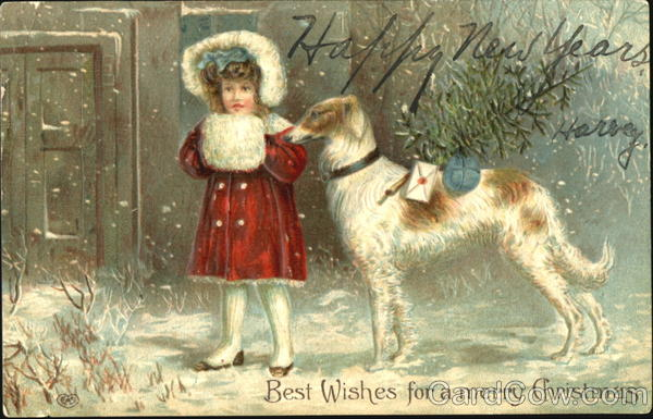 Best Wishes For A Merry Christmas Dogs