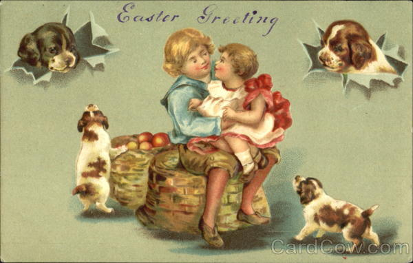 Easter Greetings Dogs