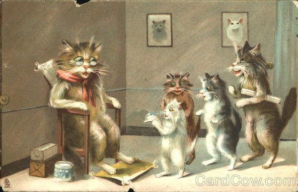 Humorous Cats Maurice Boulanger