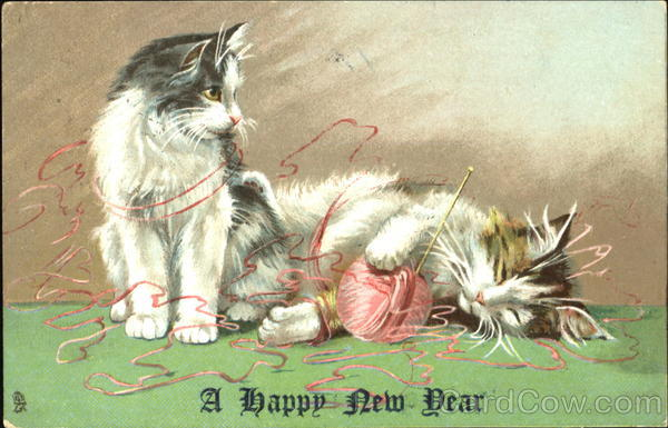 A Happy New Year Cats