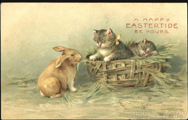 A Happy Eastertide Be Yours Cats