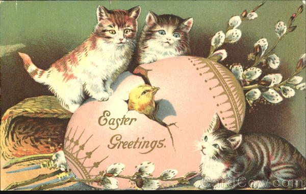 Easter Greetings Cats