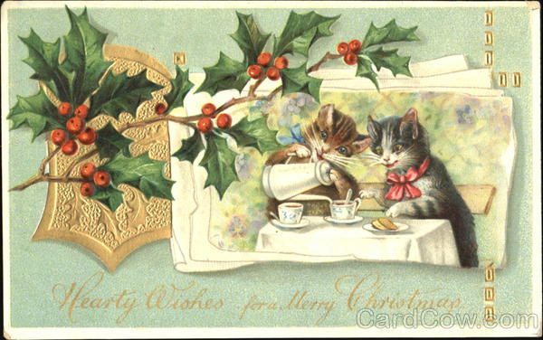 Hearty Wishes For A Merry Christmas Cats