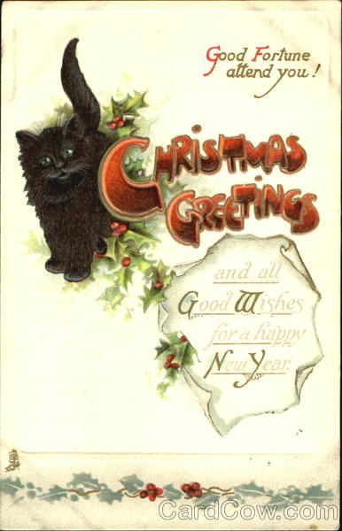 Christmas Greetings Cats