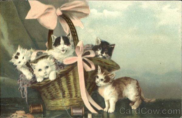 Kittens in a Basket Cats