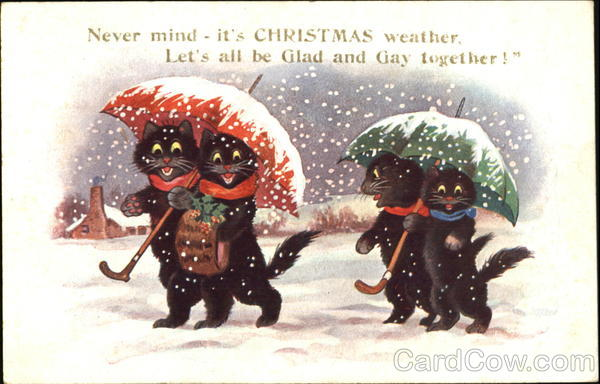 Never Mind Itds Christmas Weather Cats
