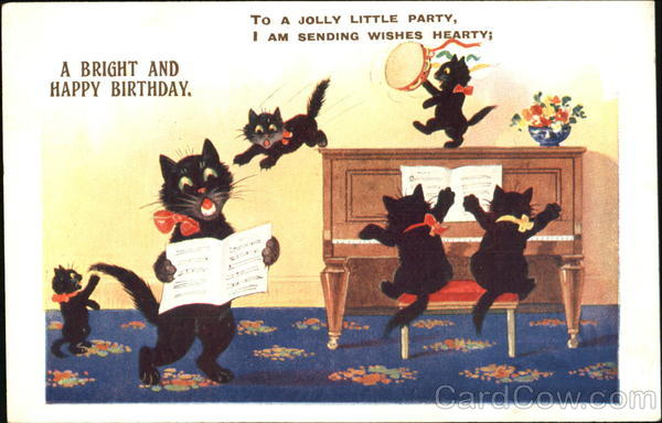 a bright and happy birthday cats