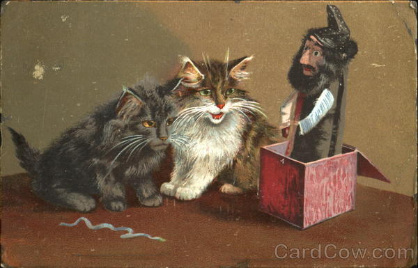 Cats and the magic Box Maurice Boulanger