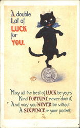 A Double Lot Of Luck For You Postcard