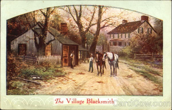 The Village Blacksmith Horses