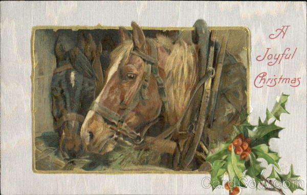 A Joyful Christmas Horses