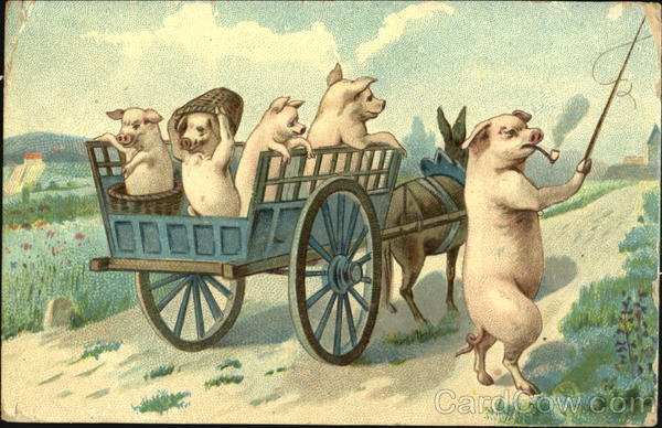 Pigs in Wagon