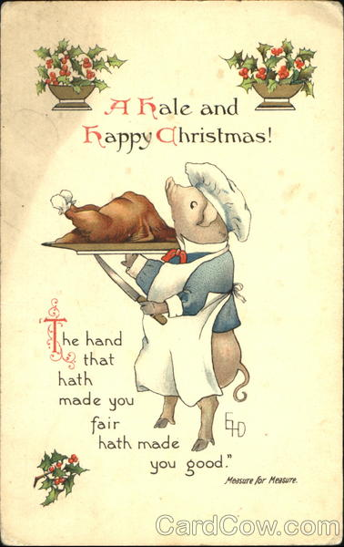 A Hale And Happy Christmas! Pigs