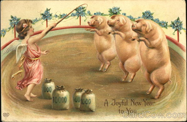 A Joyful New Year To You Pigs