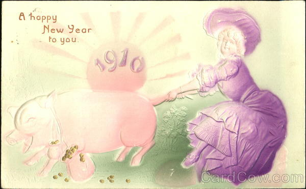 A Happy New Year To You Pigs Airbrushed