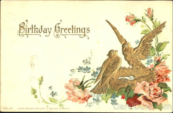Birthday Greetings Birds