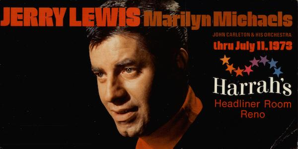 Jerry Lewis Marilyn Michaels Reno Nevada